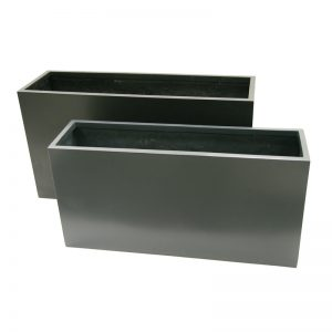 lennon long rectangle planter fiberglass