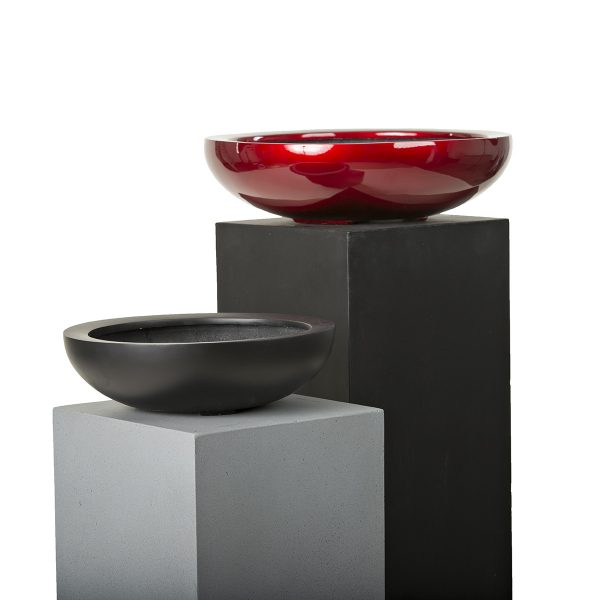 Carlton-Baha-Bowl-Red-Laquer-Black-Sized