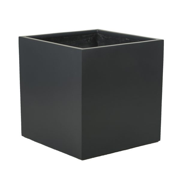 Fiberglass CUBE SQUARE PLANTER. Winterproof. Durable.