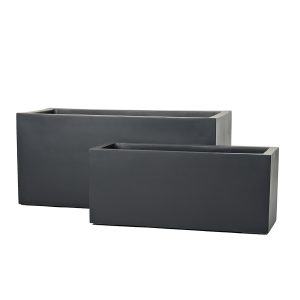 Fiberglass RECTANGLE PLANTER. Winterproof. Durable.
