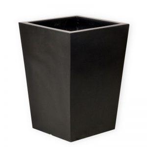 DAVE black fiberglass planter