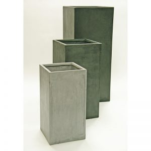 TAYLOR Tall Square Fiberclay Planter