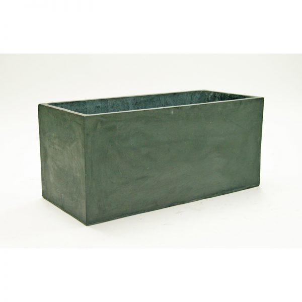 carlisle rectangle fiberclay planter