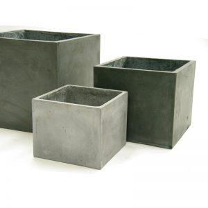 cube fiberclay planter