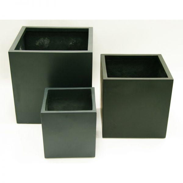 george cube fiberglass planter