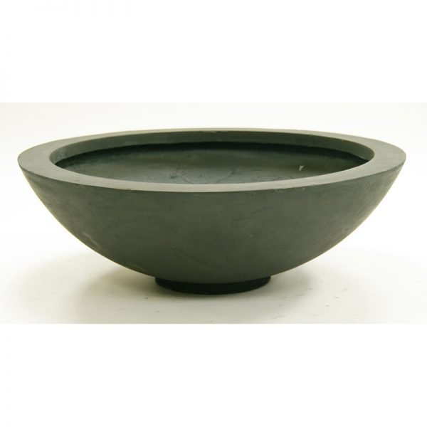 low wide bowl fiberclay planter