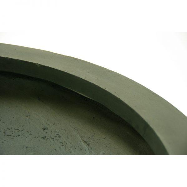 low wide bowl fiberclay planter
