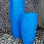 LEAF vase in blue