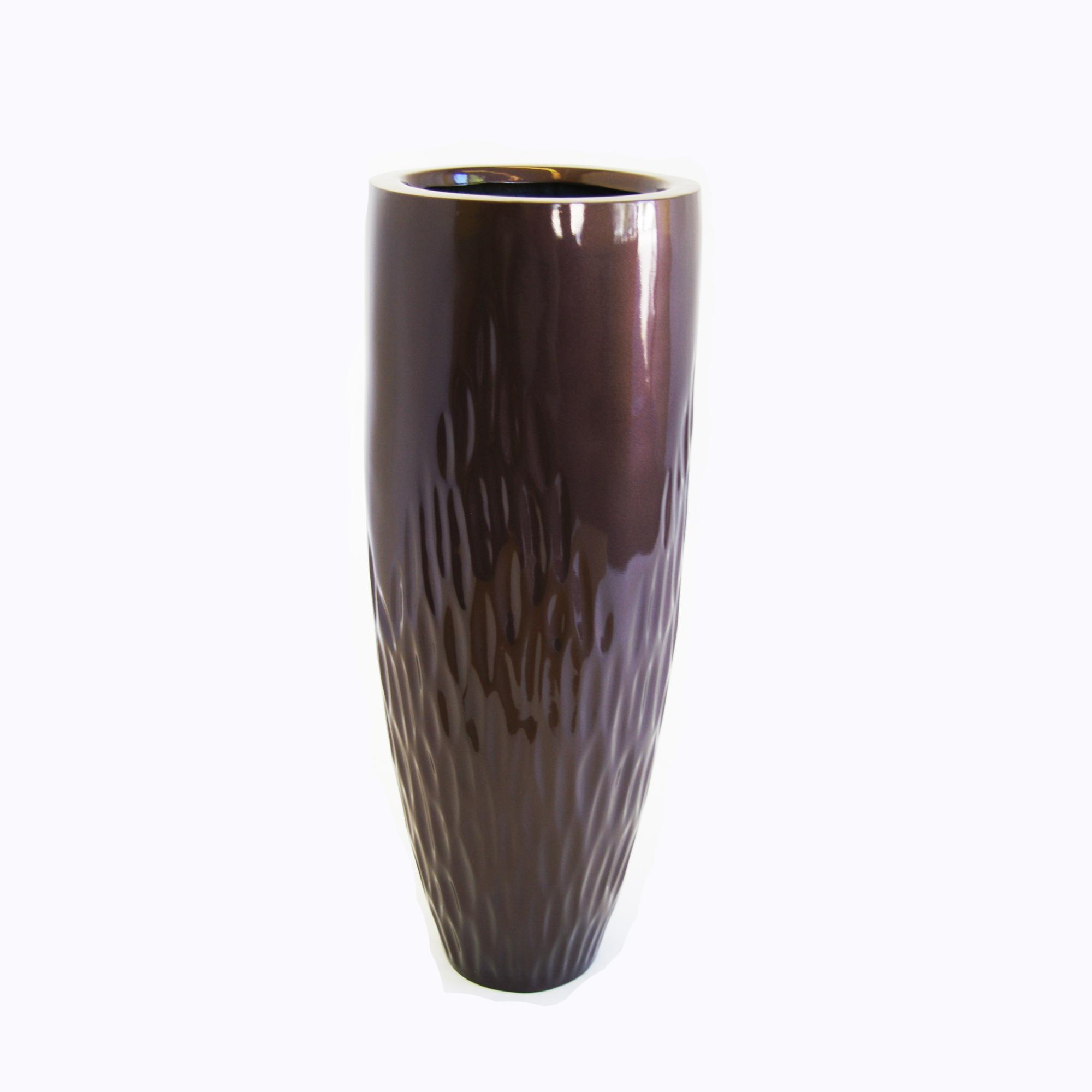 LEAF vase in dark bronze