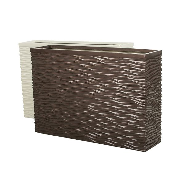 Mirage-Wavy-Rectangle-White-Dark-Bronze-Sized