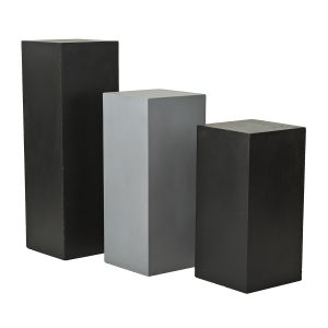 Polyfiber-Pedestals-Black-Light-Charcoal-White-Sized