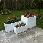 Fiberglass planter set